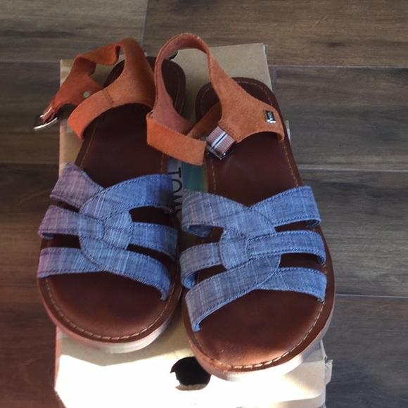 Toms Shoes | Toms Denim Sandal Size 65